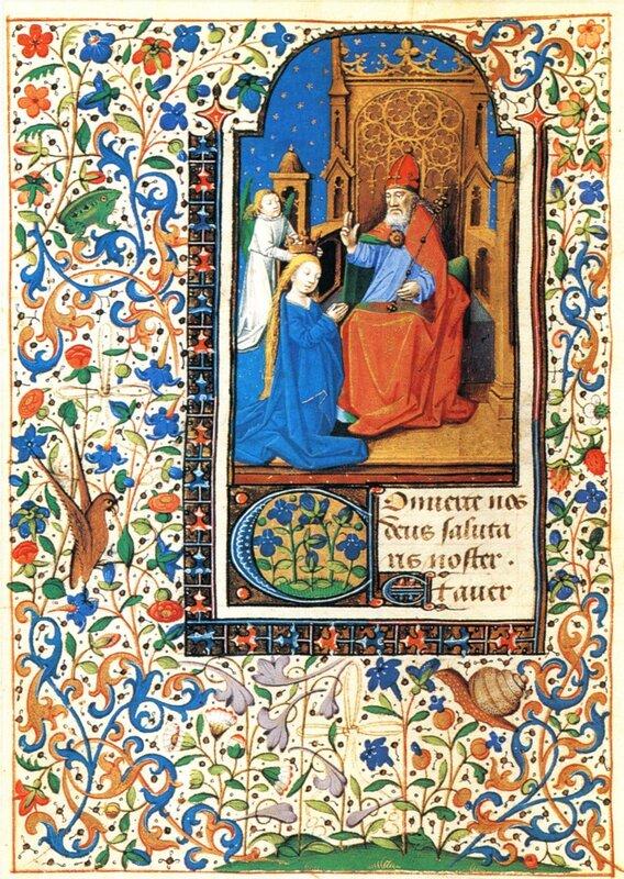 Книга часов из Ленинки № 446 - Коронация Марии