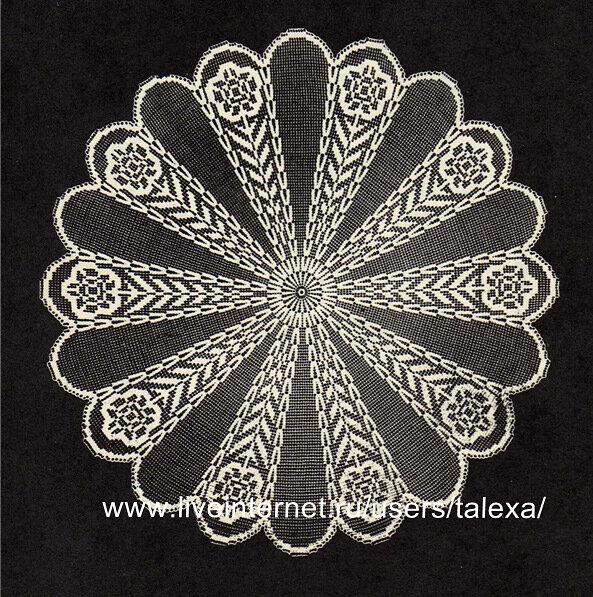 Филейное вязание.