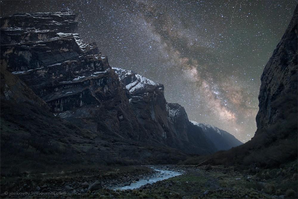 Млечный путь над Гималаями