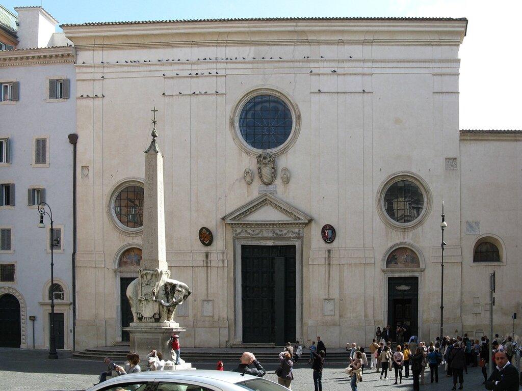 Рим. Площадь Минервы (Piazza della Minerva)