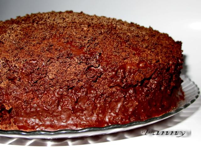 Шоколадный торт Баскский берет