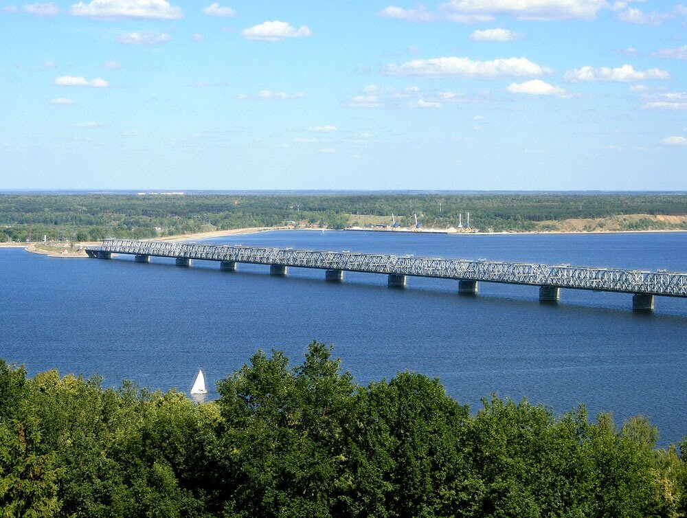 Фото моста через волгу