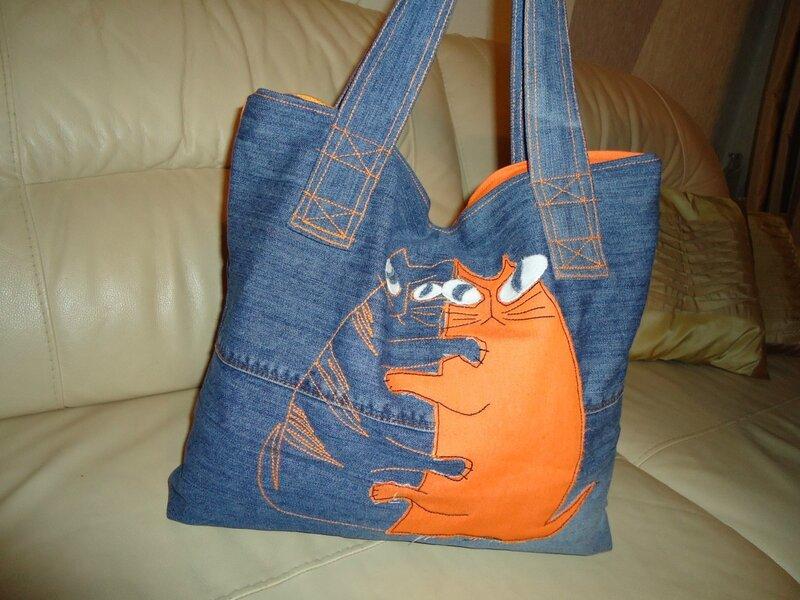 Как сшить сумку из джинсов своими руками схема