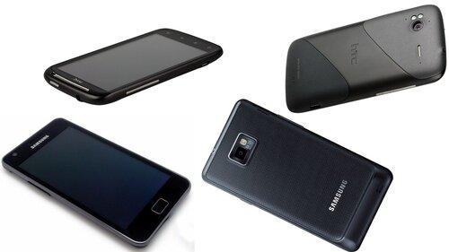 HTC Sensation и Samsung GT-I9100 Galaxy S II