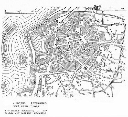 Карта Ливорно