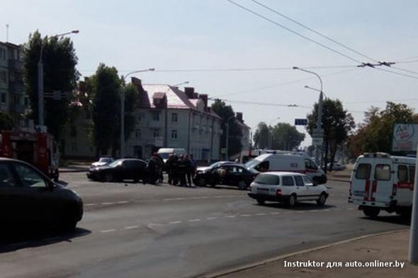 В ДТП в Минске пострадала беременная женщина