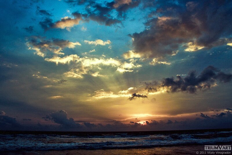 закат на индийском океане