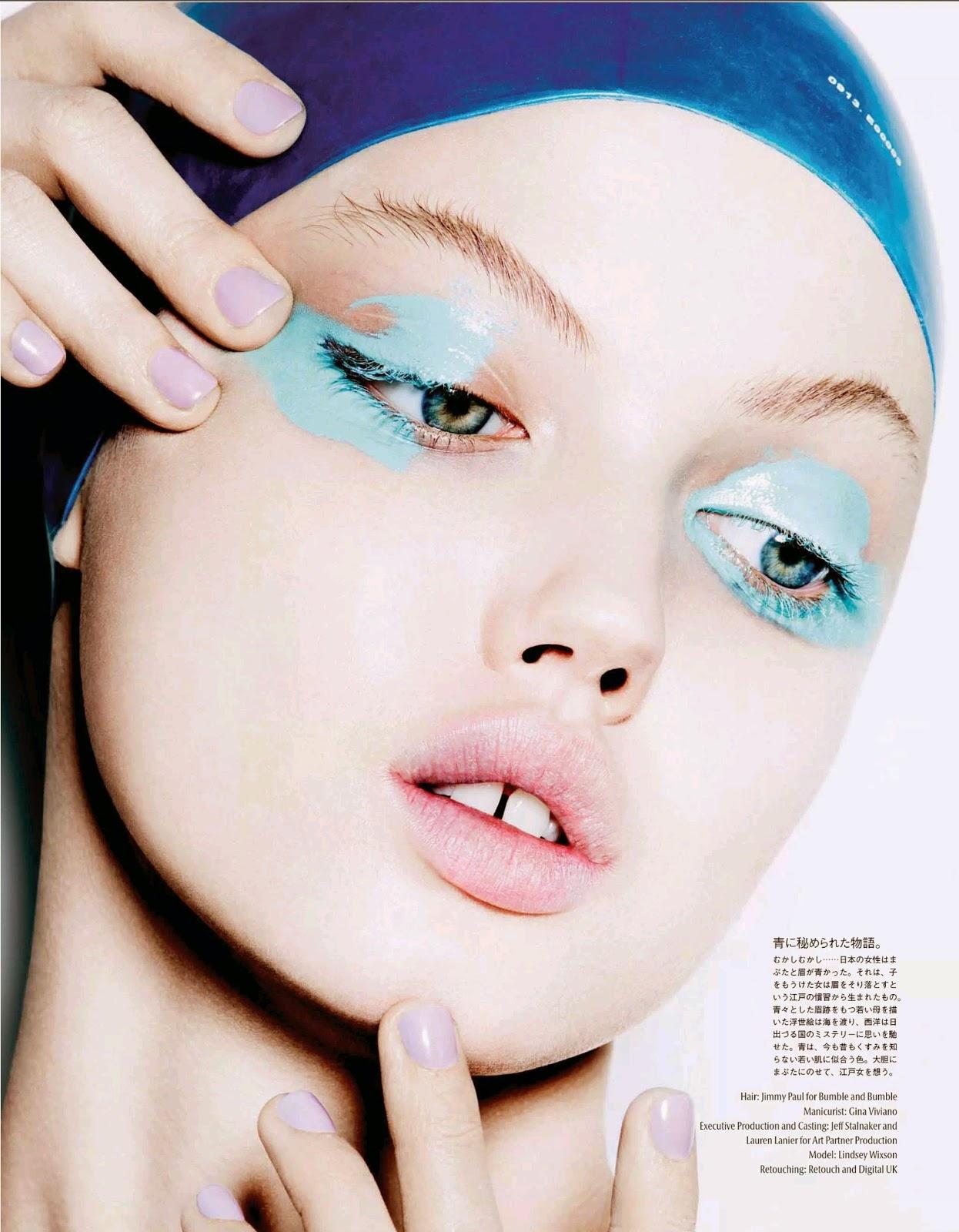 Линдси Виксон (Lindsey Wixson) в журнале Vogue Japan (3 фото)