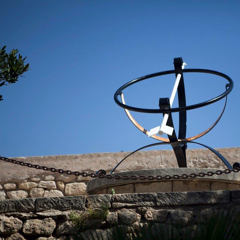 Outdoor Sundial Sculpture at Santa Barbara Castle