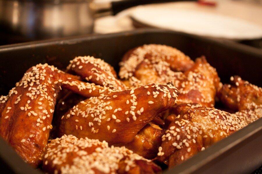 крылышки в соусе терияки рецепт с фото