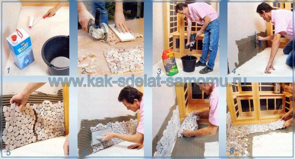 Укладка мозаичной плитки в ванной своими руками 31