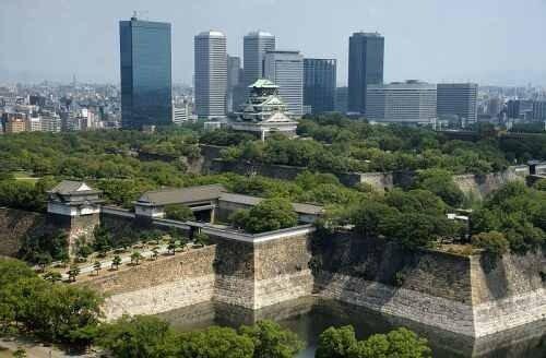 Замок-крепость в Осаке.