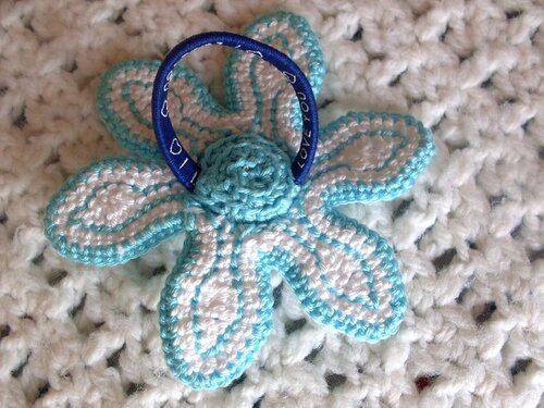 Цветок для волос, мастер-класс, вязание крючком