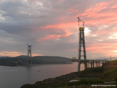 Мост на остров Русский 25-августа-2011г