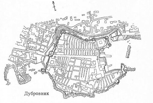 Карта Дубровника, Хорватия