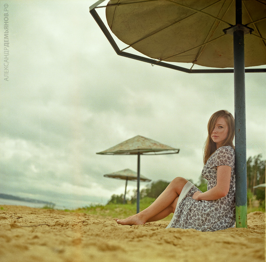 Речной пляж