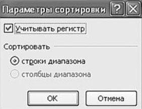 Рис. 5.18. Окно «Параметры сортировки»