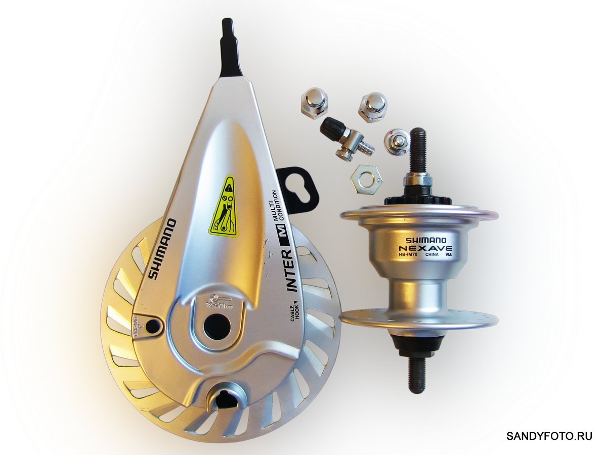 Обзор роллерного тормоза Shimano BR-IM55-F и ABS втулки Shimano NEXAVE HB-IM70