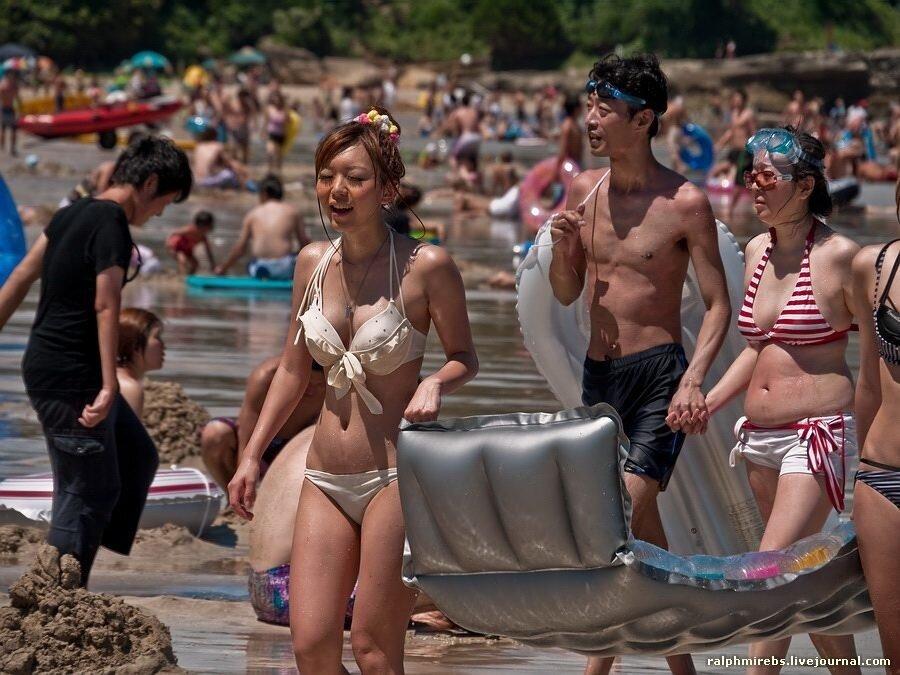 японский пляж
