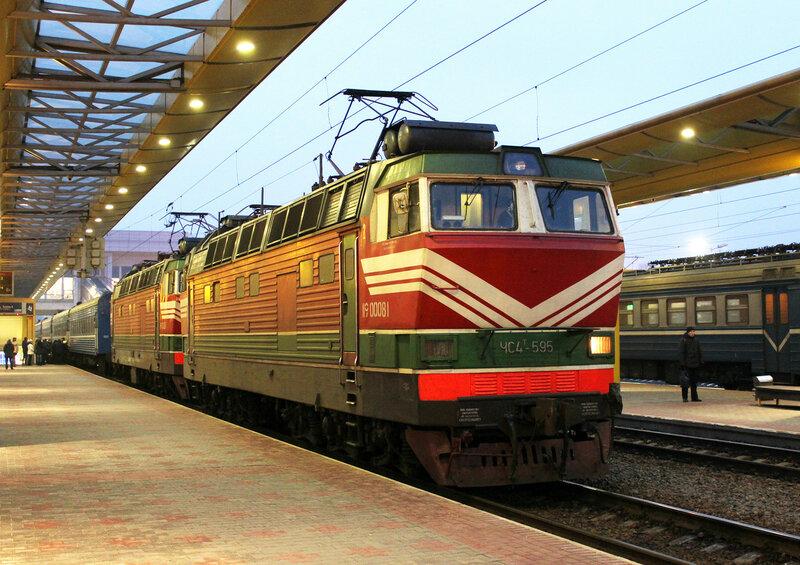 ЧС4Т-595 на стации Минск