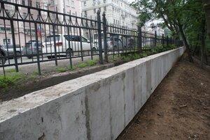 Во Владивостоке появилась новая подпорная стена