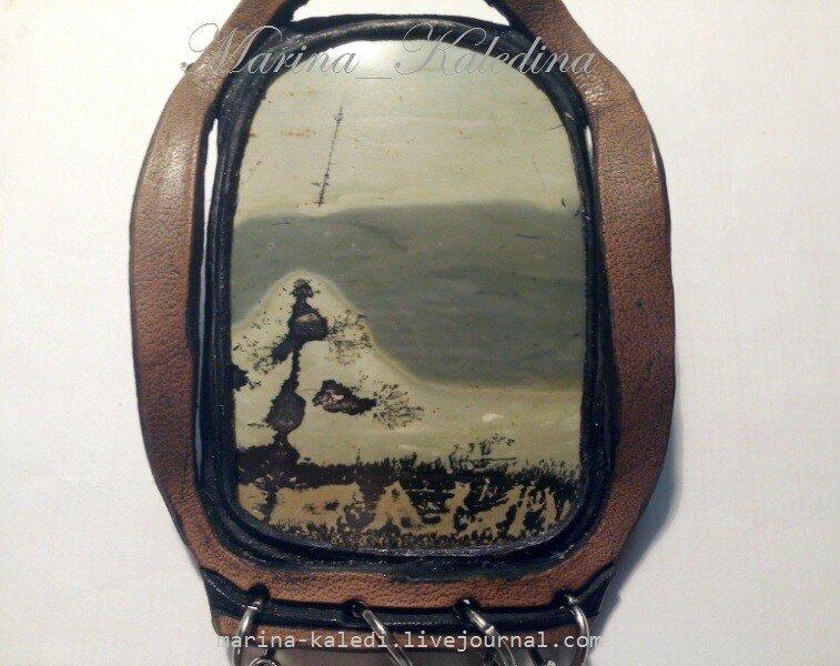 Кулон (47) с доломитовой яшмой