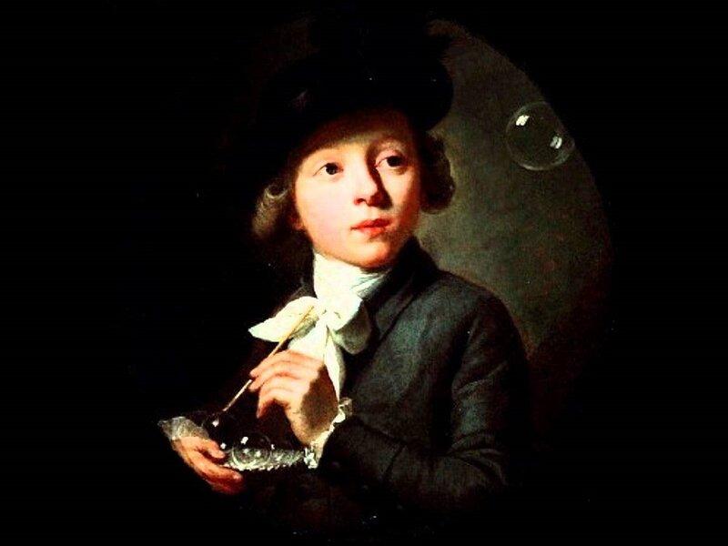 Wyrsch or Wursch, Johann Melchior Joseph (1732-98)  Soap Bubbles, 1784