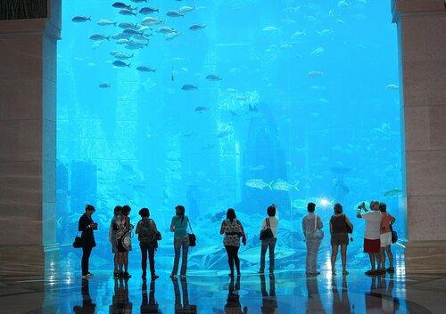 Холл отеля Atlantis .