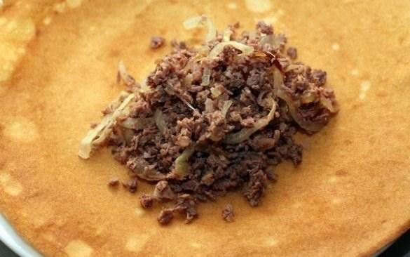 рецепт традиционных блинчиков с мясом