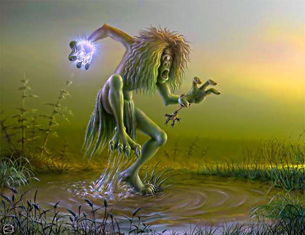 Лихо — злое человекоподобное существо, встречаются как мужские, так и женские особи. Отличается лихо