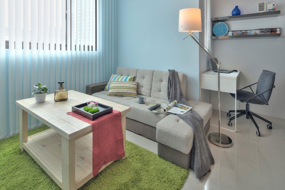 квартира студия интерьер фото, Cloud Pen Studio, интерьер маленьких квартир студий фото, маленькая квартира студия дизайн интерьера фото