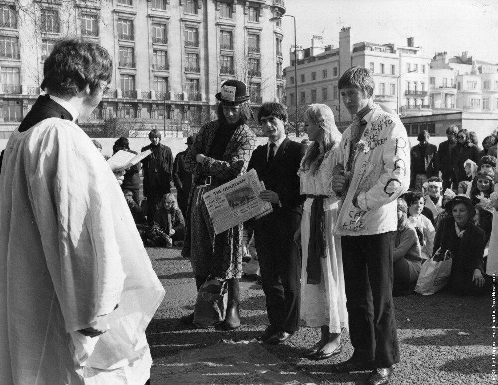 Hippies.Хиппи свадьба,1969