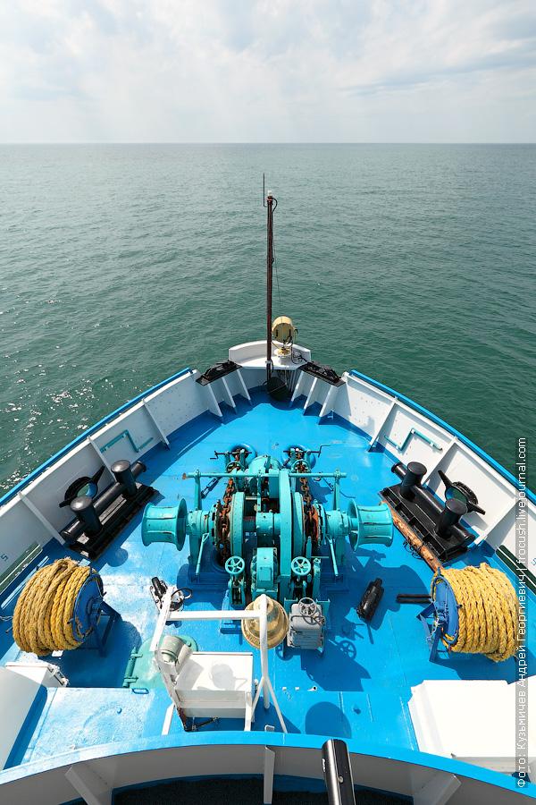 Каспийское море с борта теплохода Русь Великая