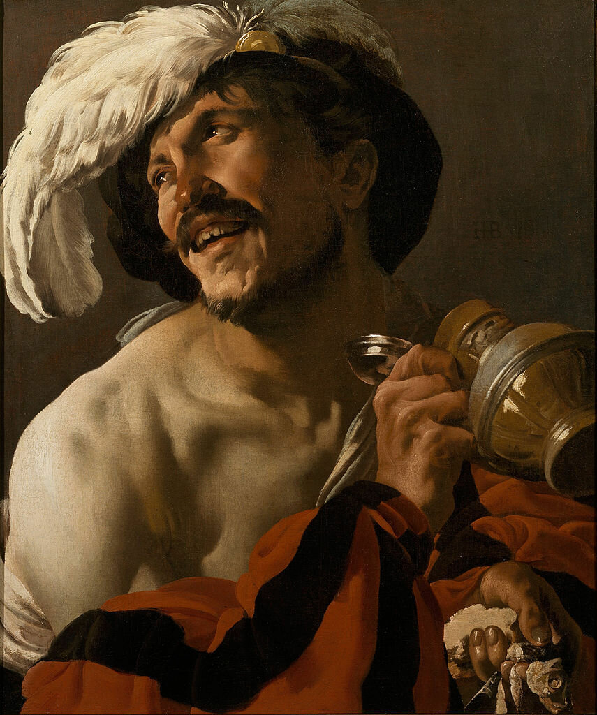The Merry Drinker. 1625 Hendrick ter Brugghen(1588-1629) Centraal Museum in Utrecht