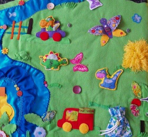Детский развивающий коврик Семьландия... игровая зона Лето