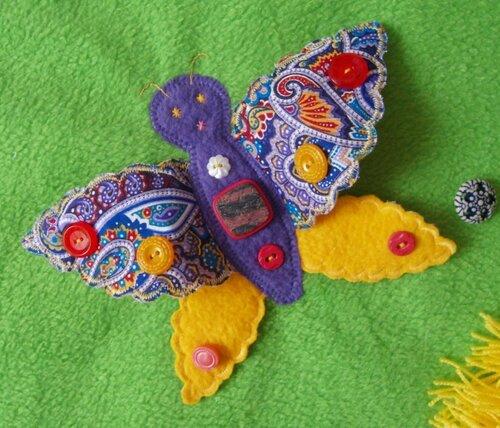 Большой развивающий коврик... Бабочка