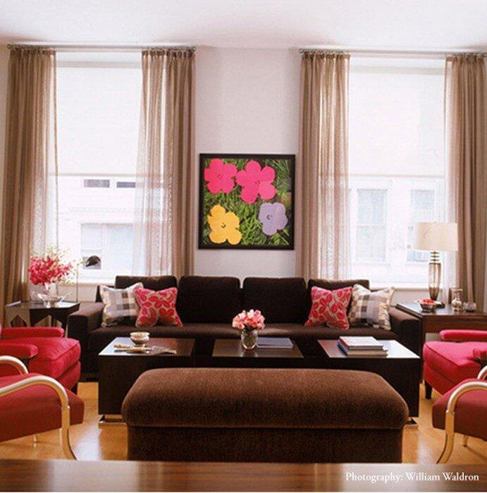 Правильные сочетания цветов - как раскрасить интерьер. Гаммы на выбор.