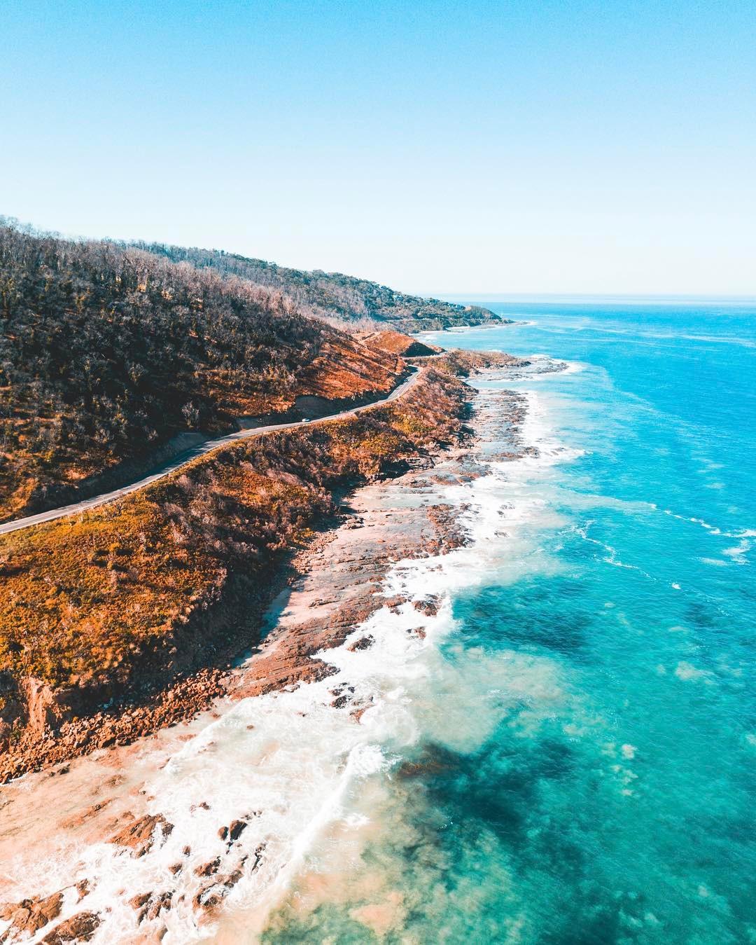 Австралия сверху на снимках Питера Яна