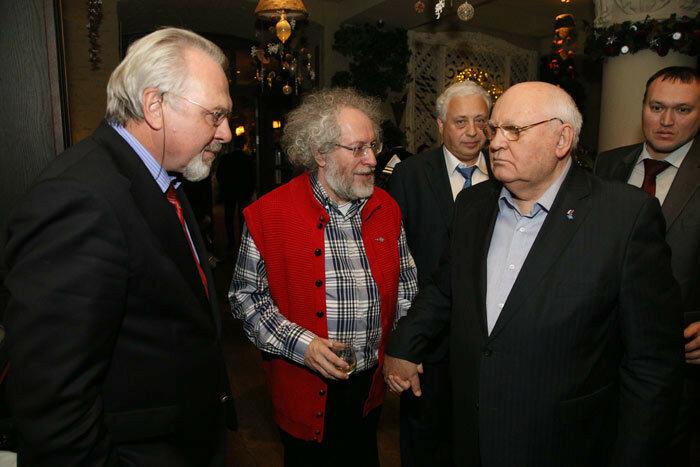 Павел Гусев, Алексей Венедиктов и Михаил Горбачев