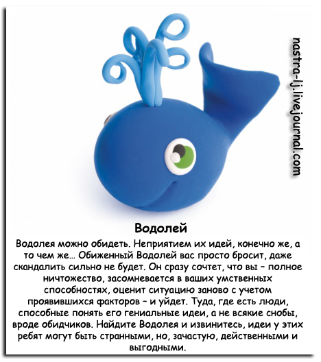 смешная характеристика водолей знака