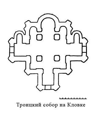 План собора Троицкого монастыря на Кловке в Смоленске