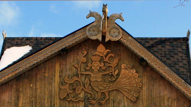 Деревянный конек на крышу своими руками 86