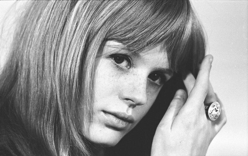 John 'Hoppy' Hopkins.Marianne Faithfull at a private photoshoot in her London flat, 1966
