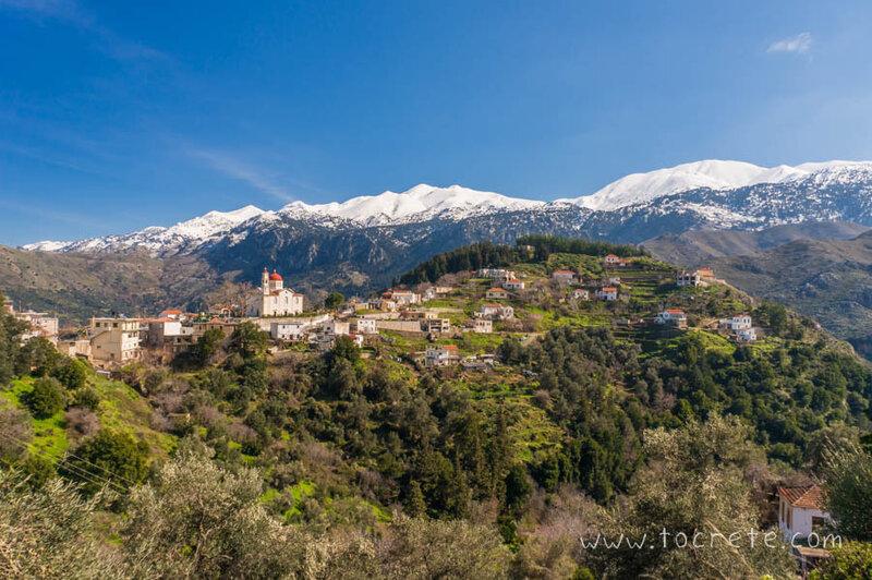 Вид на деревню Лакки и Белые Горы | View to Lakkoi village and White Mountains