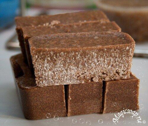 Шоколадный сахар - мыло-скраб