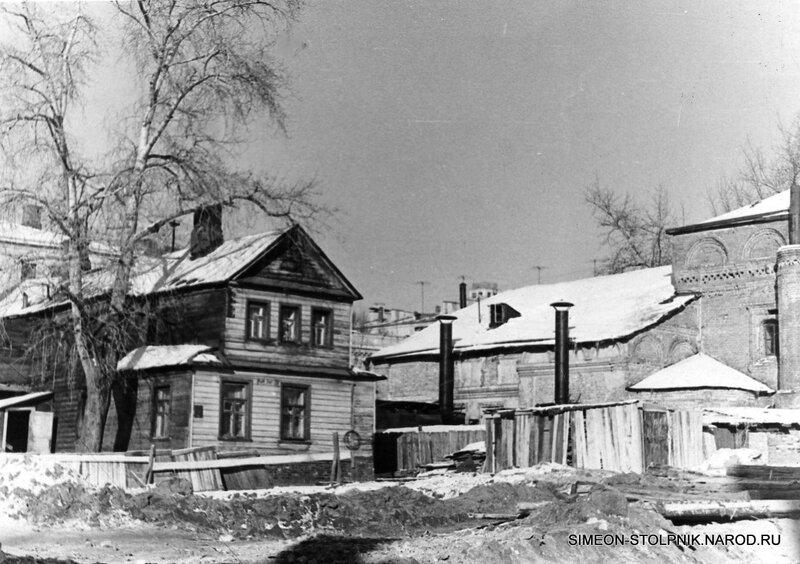 Дом причта. 1940-е годы. Вид со стороны Большой Молчановки.
