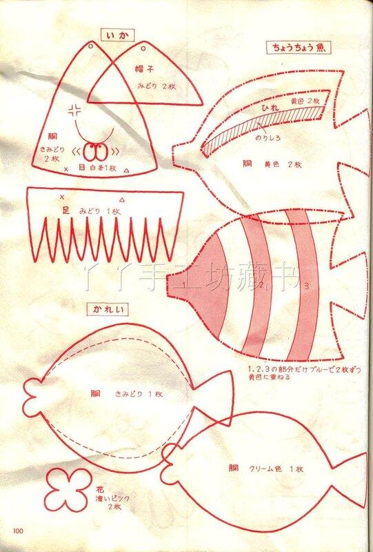 Рыбки из фетра выкройки