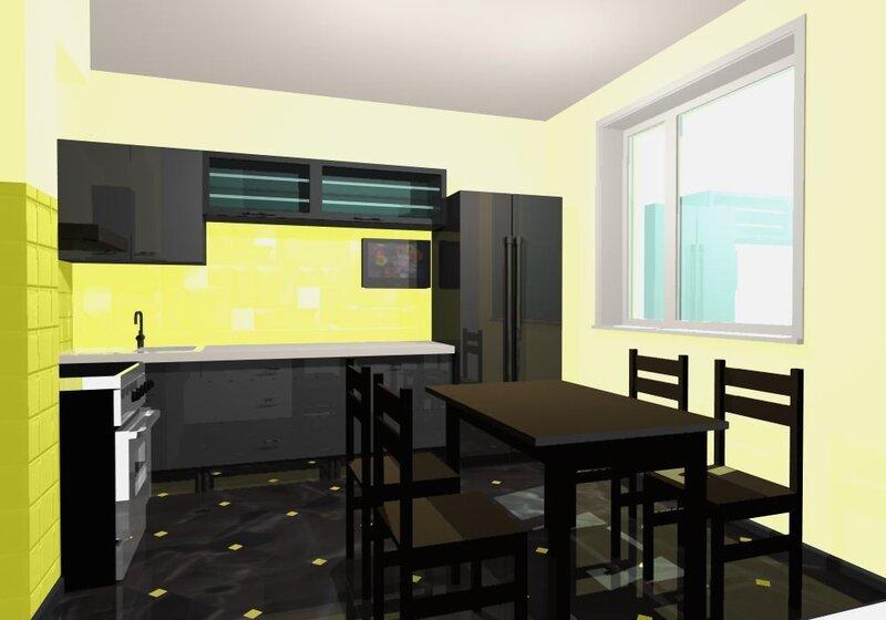 Дизайн-проект квартиры 95 кв.м. Дизайн-проект кухни 9,5 кв.м. Эскизный