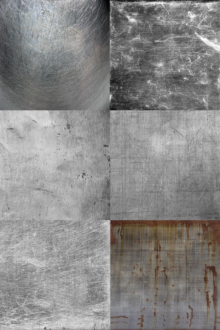 Текстуры металла, царапины