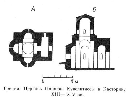План церкви Панагии Кувелитиссы в Кастории, Византия